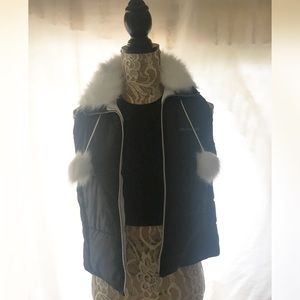 Black Guess puffer vest
